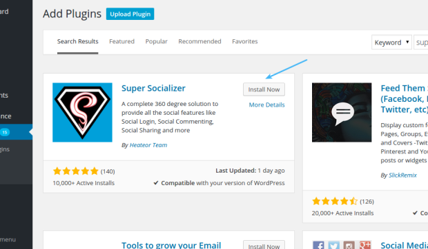 Install Super Socializer